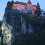 Bled Castle in the evening
