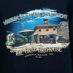 T-shirt we bought that shows the first firehouse in VA Beach