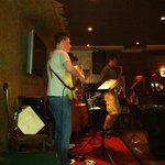 live band playing jazz I think