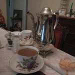Coffee at Breakfast- loved drinking coffee from the silver pot and teacup
