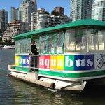 Aquabus at Granville Island stop.