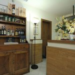 Wine and olive oil for sale in Reception