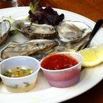 Local Katama Oysters at Fishbones in Oak Bluffs on Martha's Vineyard