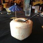 Fresh coconut cocktail
