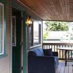 The front porch of our cabin