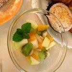 Breakfast fruit salad at Casa Pei