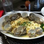 Delicious Linguine with Clams. Ask for extra sourdough to sop up broth!