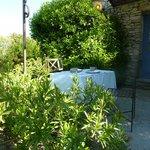 our terrace area - breakfast table