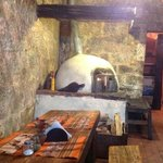 Wood burning stove and rustic feel...I love Los Lenos!