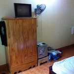 TV, fridge, fan and aircon!