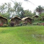 The semi-permanent tents.