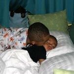 The kids slept well...