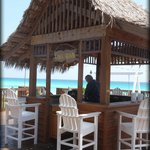 Tiki Hut getting ready for happy hour