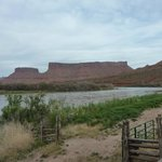 view from balcony of romm looking at, the Colorado River
