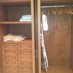 closet with lots of draws and shelves