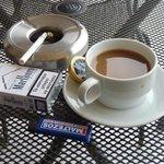 my morning coffee and smoke