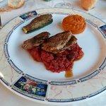 Médaillons de Mignons de Porc, Concassé de Tomates au Romarin