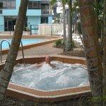 enjoying a spa