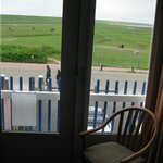 View from the rooms to the polders