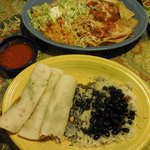 Top: Chilaquiles Norteños; bottom: Fish Tacos with fried tilapia