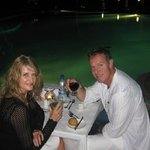 complimentary, romantic dinner for our anniversary at the poolside
