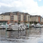 Athlone Marina with the Radisson rear right