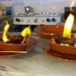 Flaming chorizo