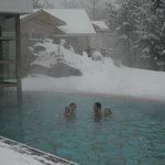 nuotare sotto la neve