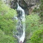 Aussicht zurück auf den Wasserfall