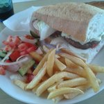 One of our lunch meals... the sandwhich was massive!!