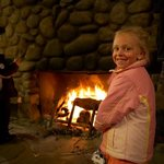 Sipapu's historic lodge offers the perfect place for families to meet and warm up.