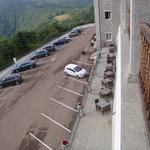 Dining Terrace overlooking Car Park