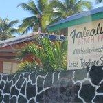 Falealupo Beach Fales sign
