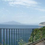 Vesuvius view from bench seats 3 minutes walk from hotel