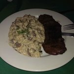 Skirt Steak with Mushroom Risotto