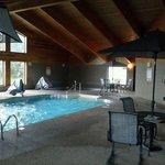 pool, hot tub, and sauna area
