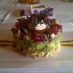 Chopped Ahi Sashimi and Avocado Salsa Stack