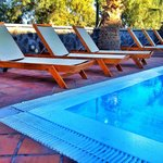Loungers beside the pool