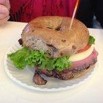 Roast Beef with Horseradish on Cinnamon Raisen (not mine!)