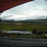 view from our tent- it was a cloudy day