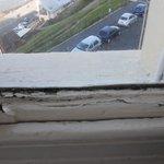 Paint peeling window sill