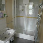 Generously proportioned shower cubicle