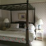 very comfortable king size bed with home made quilts