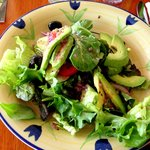 House Salad with House Dressing add Avocado