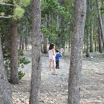 Kids playing at campsite