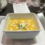 butternut squash & roasted garlic bisque