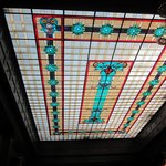 Magnificent Stained-Glass Ceiling of Dining Room