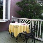 Breakfast area outside