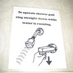 HIX Cherokee - shower instructions