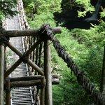 looking down on the husband bridge